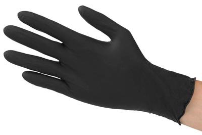 schwarze Einmalhandschuhe aus Latex