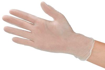 transparente Einmalhandschuhe aus Vinyl