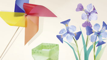 Windrad, Laterne und Blumen basteln zu verschiedenen Anlässen