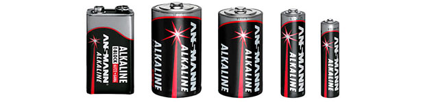 Verschieden große Batterien
