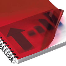 Rot-transparentes Deckblatt