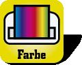 Etikettendrucker mit Farbe Symbol