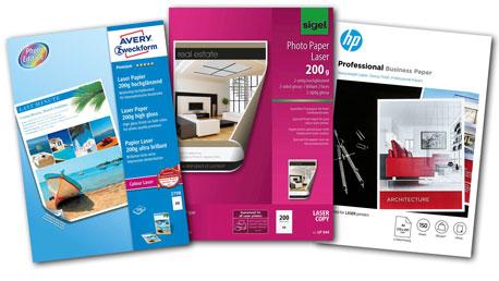 Fotopapiere für Laserdrucker