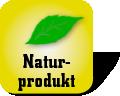 Piktogramm mit Aufschrift Naturprodukt