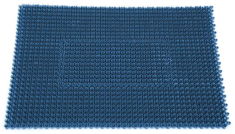 Blaue Fussmatte für den Außenbereich