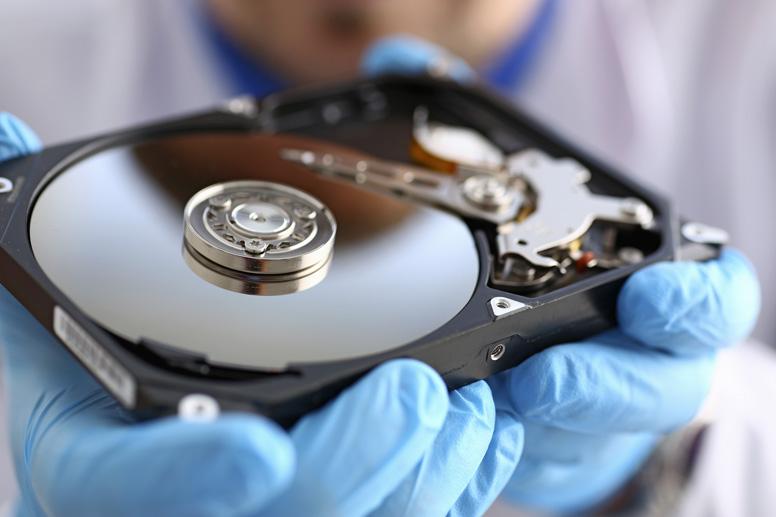 Geöffnete HDD Festplatte