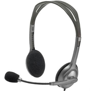schwarzes Headset
