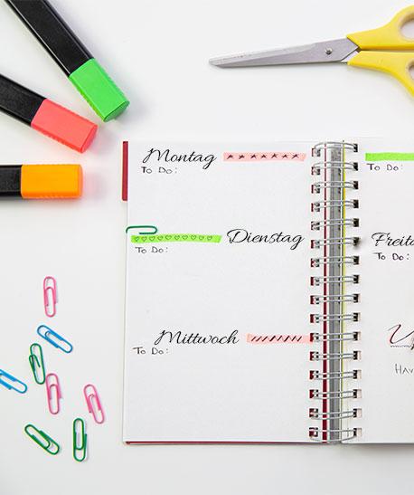 Individuell gestalteter Taschenkalender
