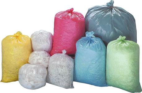 Abbildunge mit verschiedfarbigen Müllbeuteln