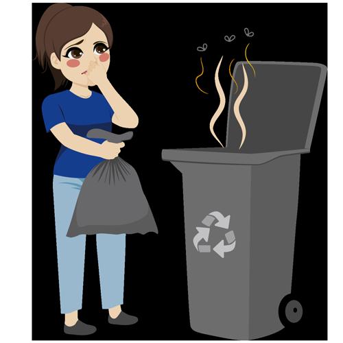 Geruch bei Mülleimern vermeiden