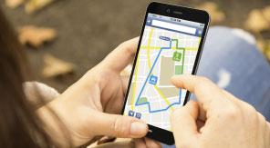 Navi-App auf Smartphone