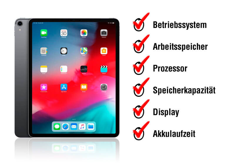 Tablet Eigenschaften