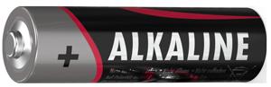einzelne Alkaline-Batterie