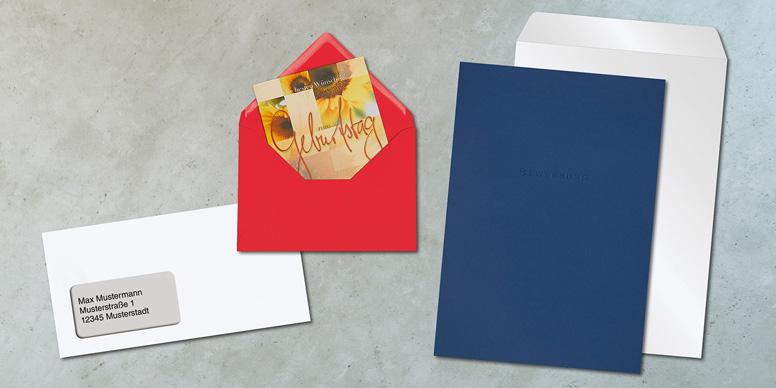 Briefumschläge für verschiedene Anlässe