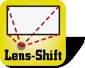Piktogramm Lens-Shift