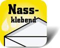 Piktogramm für nassklebende Briefumschläge
