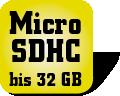Piktogramm für Multifunktionsgeräte mit Micro SDHC Speicherkartensteckplatz
