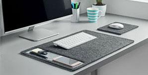Schreibtischunterlage aus Stoff