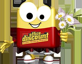office discount Maskottchen Odi maeht den Rasen