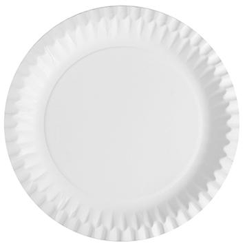 Weißer Pappteller