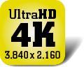 Piktogramm für Fernseher mit 4K-/UHD-Auflösung