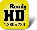 Piktogramm für Fernseher mit HD-ready-Auflösung