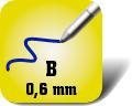 Piktogramm für breite Kugelschreiberminen