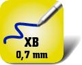 Piktogramm für extrabreite Kugelschreiberminen