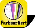 Piktogramm für farbsortierte Register