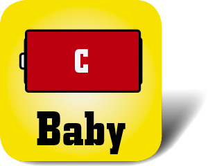 Piktogramm Batterie Baby C