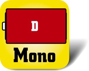 Piktogramm Batterie Mono D