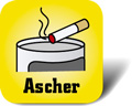 Piktogramm für Mülleimer mit Ascher