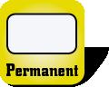 Piktogramm für permanent haftende Etiketten