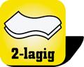 Piktogramm für 2-lagige  Papierhandtücher
