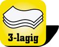 Piktogramm für 3-lagige  Papierhandtücher