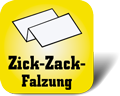 Piktogramm für Papierhandtücher mit Zick-Zack-Faltung