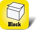 Piktogramm: Haftnotiz als Block