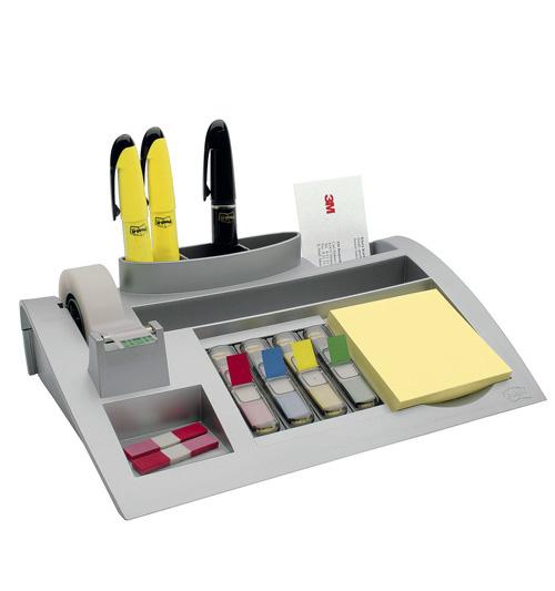 Schreibtischorganizer mit Platz für Haftnotizen