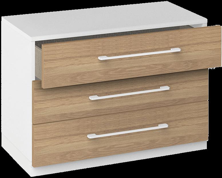 Schubladenschrank im Sideboarddesign