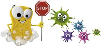 Stop-Schild gegen Viren