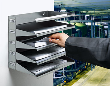 Sortierstation aus Stahl in Werkstatt