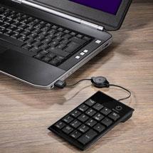 Nummernblock angeschlossen an einem Laptop