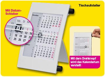 Kalender als Tischaufsteller