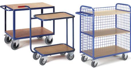 Mehrstöckige Tischwagen für die Werkstatt