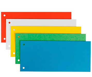 Einige farbige Trennstreifen