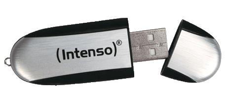 USB-Stick mit geöffneter Schutzkappe