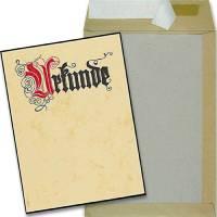 Papprückwand-Versandtasche mit DIN A4-Urkunde
