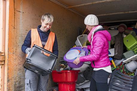 Müllentsorgung beim Wertstoffhof
