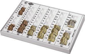Ein Zählbrett für Münzen