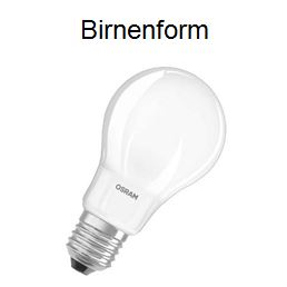 Leuchtmittel-Birnenform
